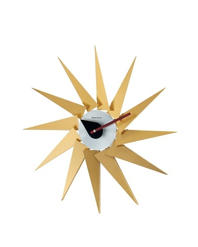George Nelson Piccolo Turbine Clock, Brass/Silver