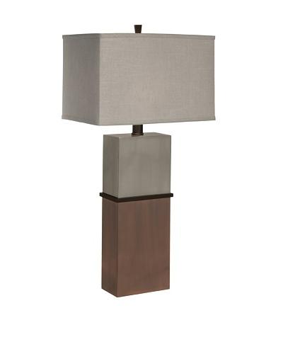 Allison Davis Taurus Table Lamp, Nickel/Bronze