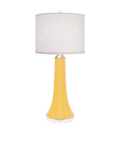 Allison Davis Juicy Linen Shade Table Lamp, Yellow