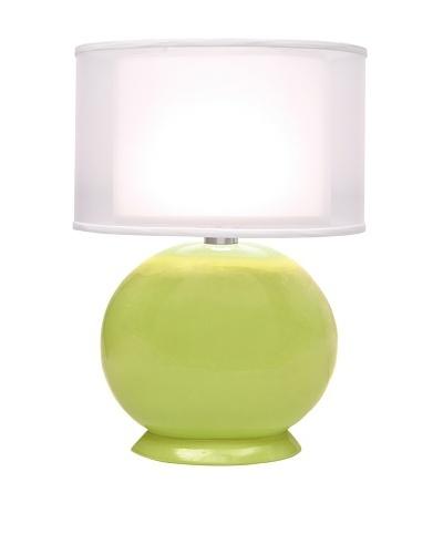 Allison Davis Cartman Double Shade Table Lamp, Lime Green