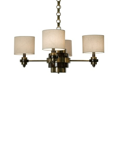 Allison Davis Bombay Chandelier, Brass/Brown