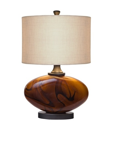 Allison Davis Burl Table Lamp, Bronze