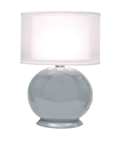 Allison Davis Cartman Double Shade Table Lamp, Grey