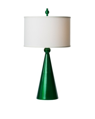 Allison Davis Design Lighting Jolly Pop Table Lamp [Lamp-Metallic Green Finish Shade-White]