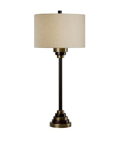 Allison Davis Design Lighting Bombay Table Lamp, Antique Brass/Brown/Natural