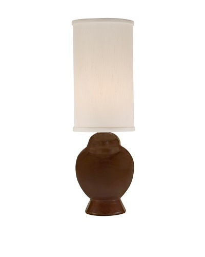 Allison Davis Design Lighting Ginger Table Lamp [Lamp-Chocolate Brown Glaze Finish Shade-White]