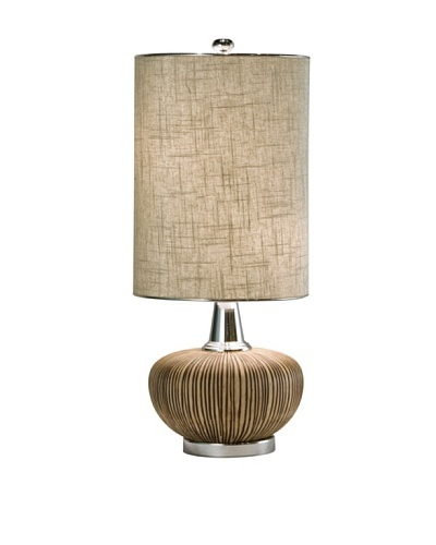 Allison Davis Design Lighting Sahara Table Lamp, Brown/Silver