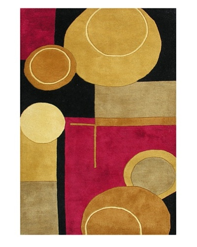 Alliyah Rugs Sabrina Rug, Black/Red/Gold/Tan, 8' x 10'