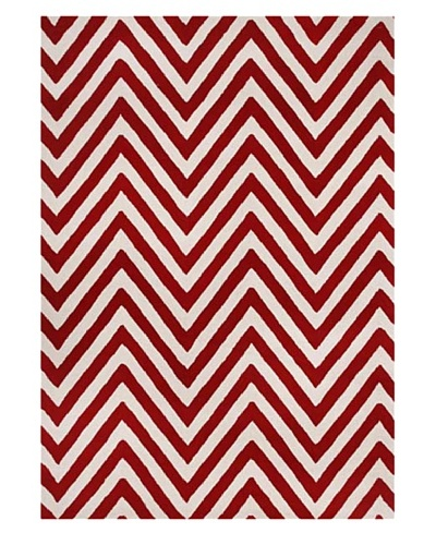 Alliyah Rugs Alliyah Handmade Rug, Red/Creamy White, 5' x 8'