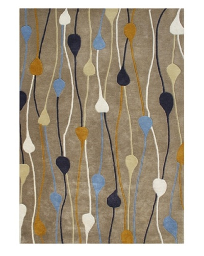 Alliyah Rugs Alliyah Handmade Rug, Camel/Multi, 5' x 8'