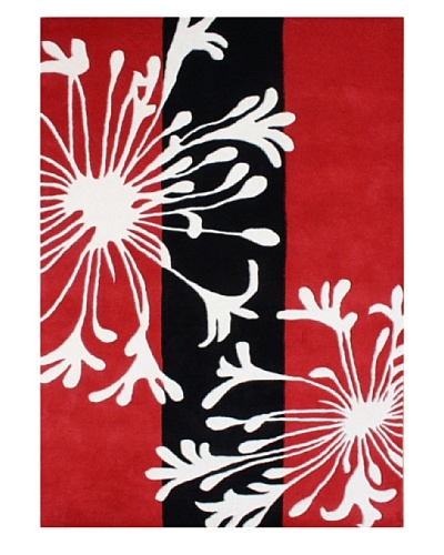 Alliyah Rugs Alliyah Rugs, Red/Black/White, 5' x 8'