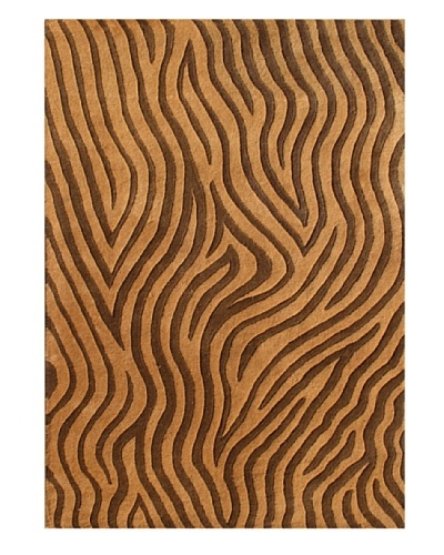 Alliyah Rugs New Zealand Wool Rug [Golden/Brown]