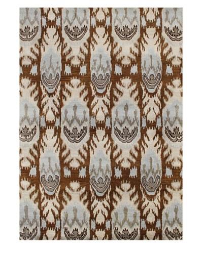 Alliyah Rugs New Zealand Wool Rug [Brown/Beige/Blue Multi]