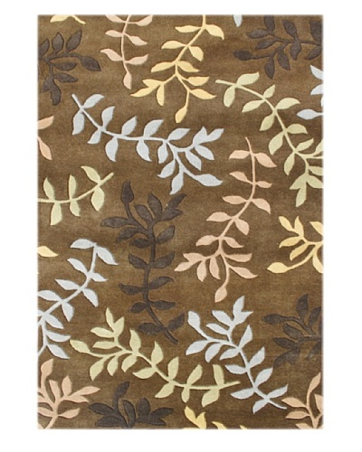 Alliyah Rugs New Zealand Wool Rug [Gold/Oak/Yellow/Blue]