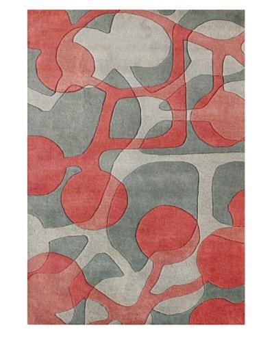 Alliyah Rugs Alliyah Rugs, Grey/Soft Pink, 8' x 10'