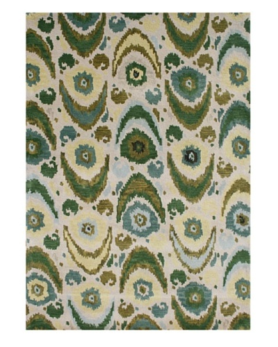 Alliyah Rugs New Zealand Wool Rug [Beige/Olive/Aqua Multi]