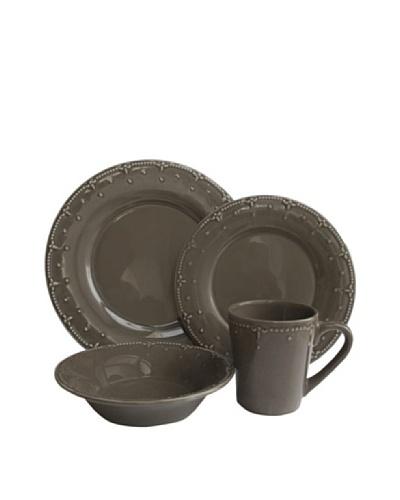 American Atelier Genevieve 16-Piece Dinnerware Set [Gray]