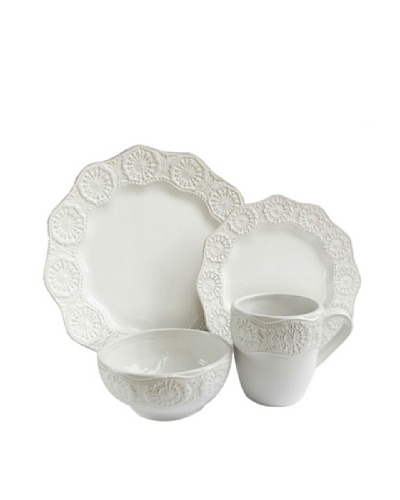 Celeste 16-Piece Dinnerware Set, White