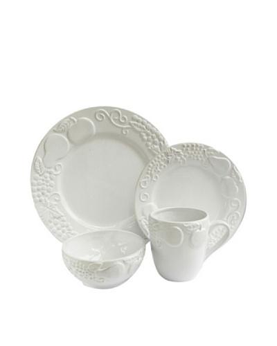 Frutta 16-Piece Dinnerware Set, White