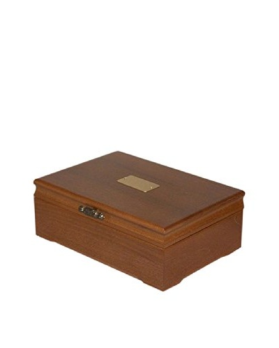 American Chest Company Walnut-Finished Hardwood Memory Flatware Chest