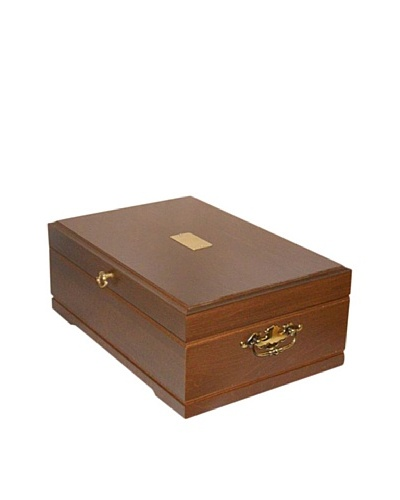 American Chest Company Mahogany-Finished Hardwood Flatware Chest