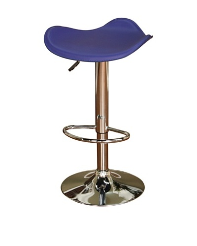 American Heritage Billiards Sloan Adjustable Stool, Chrome/Blue