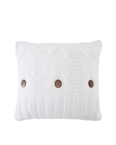 Amity Cable Knit Pillow, White, 20 x 20