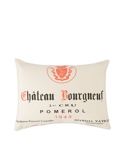 Amity Pomerol Wine Pillow, Natural