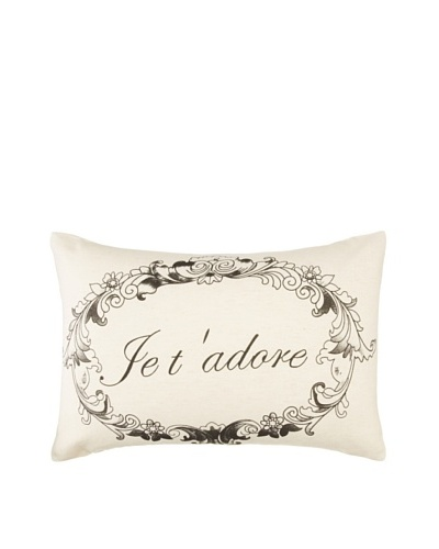 Amity Je t'adore Pillow, Natural