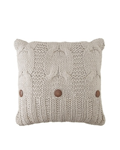 "Amity Cable Knit Pillow, Gray, 20"" x 20"""
