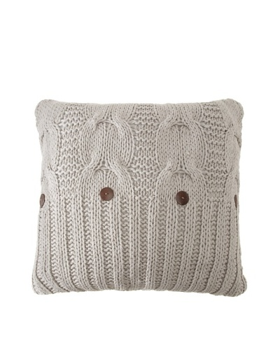 Amity Cable Knit Euro, Gray, 26 x 26