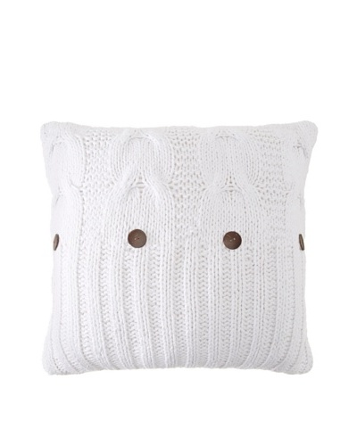 Amity Cable Knit Euro, White, 26 x 26