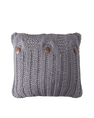 Amity Cable Knit Pillow, Steel Blue, 20 x 20