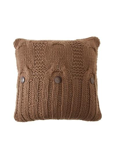 Amity Cable Knit Pillow, Walnut, 20 x 20