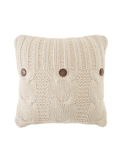 Amity Cable Knit Pillow, Natural, 20 x 20