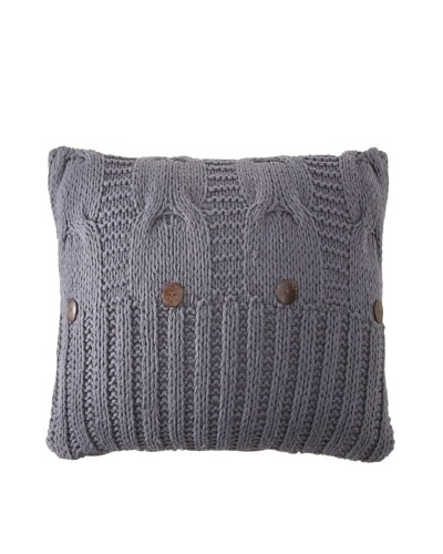Amity Cable Knit Euro, Steel Blue, 26 x 26