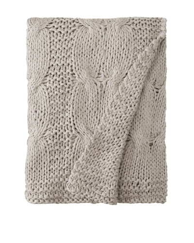 Amity Cable Knit Throw, Gray, 50 x 60