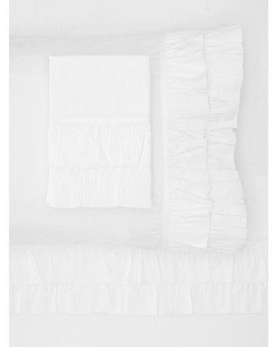 Amity Home Ruffle Sheet Set [White]