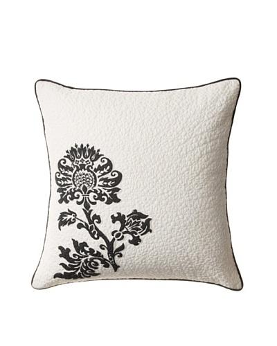 Amity Home Cot de Rhone Pillow, Ivory/Black