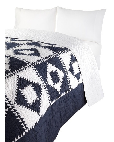Amity Home Logan Patchwork Quilt [Navy]