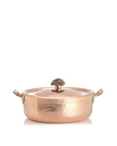 Amoretti Brothers 15.25-Qt. Hand-Hammered Copper Sauté Pan