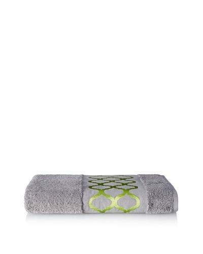 Anali Tangier Bath Towel, Green/Grey