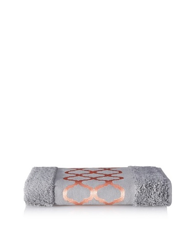 Anali Tangier Hand Towel, Coral/Grey