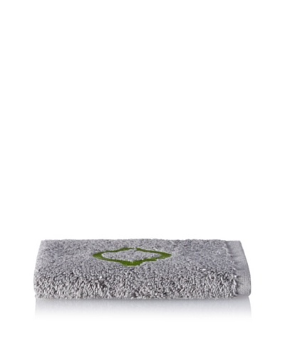 Anali Tangier Wash Cloth, Green/Grey
