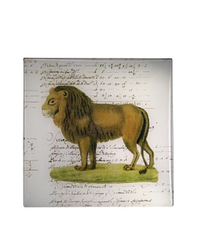 Twigs and Moss African Series Lion Glass Tray
