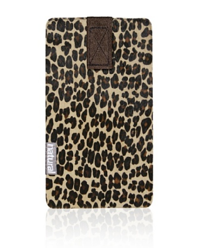 Natural Cowhide iPhone Case, Leopard Print, 2.5 x 5