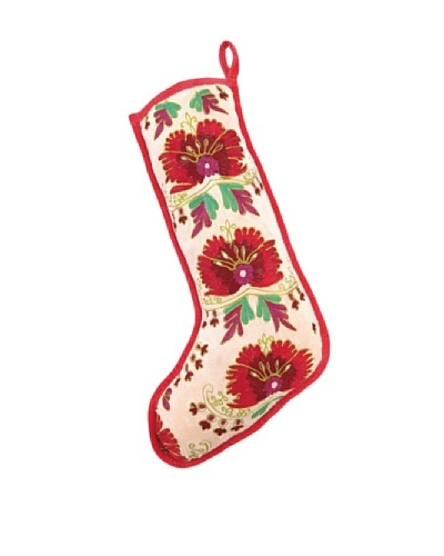Anna Marie Horner Holiday House Holly Berry Flower Stocking