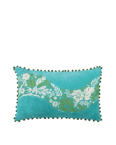 Anna Marie Horner Holiday House Holly Blue Spruce Flower Pillow