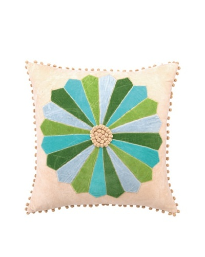 Anna Marie Horner Holiday House Holly Blue Spruce Patchwork Pillow