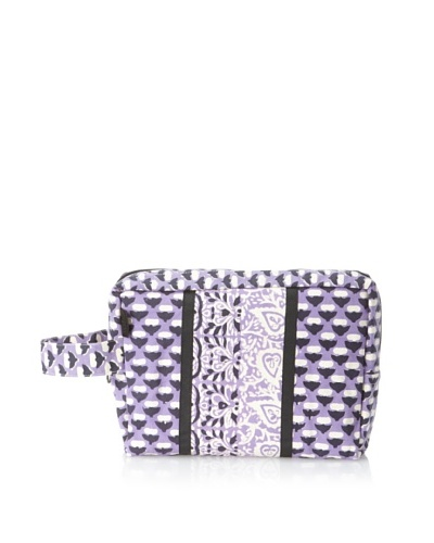 Anna Sui Garden Bud Canvas Cosmetics Bag